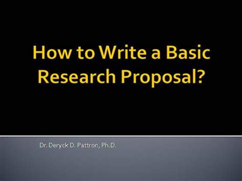 Research report proposal